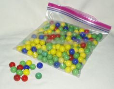 Marbles Glass Mixed Colors 250 pcs Great for by WMCraftSupplies