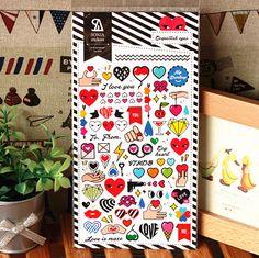 Korean style SONIA PVC decorative stickers eyes 2026 SZM