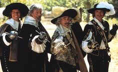 THE FOUR MUSKETEERS.  LEFT TO RIGHT: MICHAEL YORK, OLIVER REED, FRANK FINLAY, RICHARD CHAMBERLAIN.