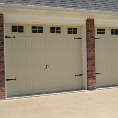 Fancy Up Some Garage Doors By Adding Hardware To Them