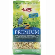 Popular premium food for all #parakeets and #budgies. A gourmet formula with a blend of selected favourite grains, oilseeds, fruits and vegetables and supplemented with Tropican egg granules.#parrots #parrotessentials