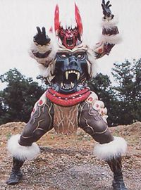 Monkeywi is a Baboon monster. After Grizzaka overthrows Dai Shi/Jarrod, he summons Monkeywi to lead the Rinshi in Dai Shi's place. He attacked citizens in Ocean Bluff, causing RJ to think he attacked people. He briefly fought RJ before the Rangers appeared, but RJ changed into his werewolf form. Monkeywi ran away for the Rangers' Master to finish them off and later ambushed Ocean Bluff a second time. When the Rangers are overwhelmed, R.J. appears as the Wolf Ranger and easily takes down...
