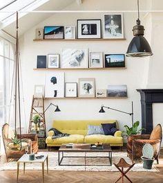 Decoração: Gallery wall é tendência. Aprenda já a montar a sua