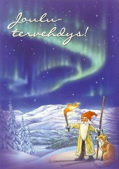 A Postcard a Day: A Christmas greeting from Finland