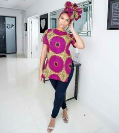 Super Stylish Ankara Tops for Gorgeous Ladies African Fashion Designers, African Inspired Fashion, Latest African Fashion Dresses, African Print Fashion, Ankara Fashion, African Print Clothing, African Print Dresses, African Dress, African Prints