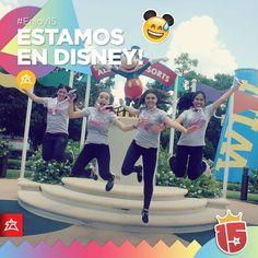 Llegamos a #Disney con el grupo #amarilloJ16!!