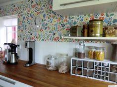 Kök - Ett inredningsalbum på StyleRoom av Kicks Stig Lindberg, House By The Sea, Kitchen Wallpaper, Valance Curtains, Living Room, Interior, Kitchen Inspiration, Rum, Furniture