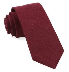 Jet Set Solid Ties - Burgundy | Ties, Bow Ties, and Pocket Squares | The Tie Bar