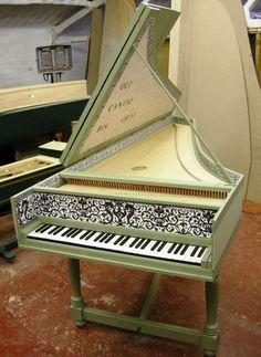 modern harpsichord <3 http://pinterest.com/cameronpiano