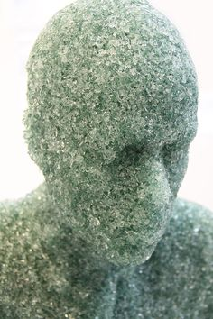 shattered glass sculptures by daniel arsham.
