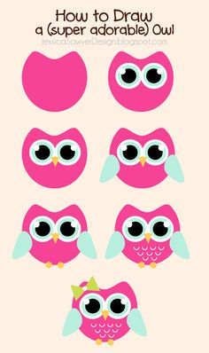How to Draw an Owl + Free Owl Clipart Pinned by www.myowlbarn.com