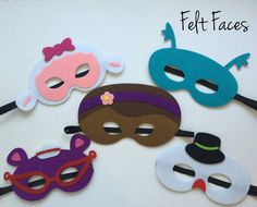 CONJUNTO de 5 Doc McStuffins partido máscara Doc por KSFeltFaces