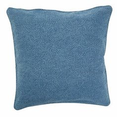 R&MIndustries Large Embossed Floral Pillow Size: Large, Color: Blue Large Throw Pillows, Floral Throw Pillows, Throw Pillow Sets, Outdoor Throw Pillows, Decorative Pillows, Decorative Accents, Small Sectional Couch, Leather Couch Sectional, Sofa Couch