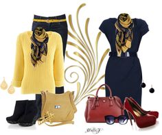 """From office chic to after work clubbing...""""* ONE SCARF Two Looks *"""" by hrfost1210 ❤ liked on Polyvore"""