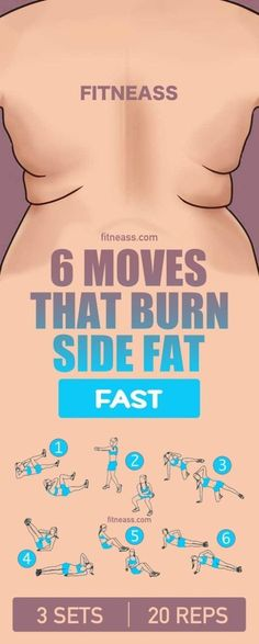 "GONE In 13 Days With This Strange ""Carb-Pairing"" Trick 6 moves that burn side fat fast.c… 6 moves that burn side fat fast. Fitness Workouts, Best Core Workouts, Fitness Diet, At Home Workouts, Fitness Motivation, Health Fitness, Yoga Fitness, Side Workouts, Side Fat Workout"
