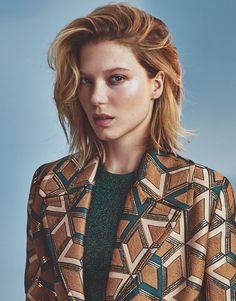 Léa Seydoux by Emma Tempest for The Edit Magazine November 4th, 2015 - Gucci coat