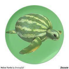 Melon Turtle Dinner Plate