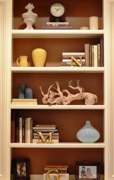 Bookshelf Decoration Like The Letter Idea Could Use First Of Each Member