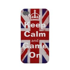 Keep calm and Game On iphone 4 cases by #In_case