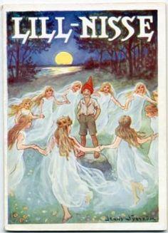 Lill-Nisse. Julbok för små småttingar. Med tre sagor av Britta Kilander och tretton teckningar av A. T. Byberg. Omslagsteckning av Jenny Nyström-Stoopendahl. Elfte årgången.