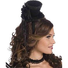 Mini Victorian Top Hat Headband - One Size