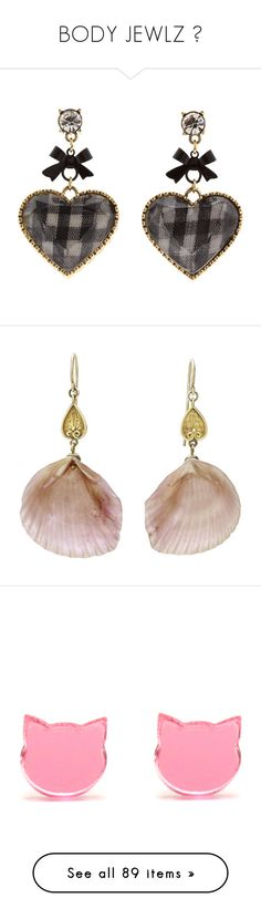 """BODY JEWLZ 💎"" by pourbaby ❤ liked on Polyvore featuring jewelry, earrings, accessories, orecchini, women's jewelry, betsey johnson jewellery, heart earrings, betsey johnson earrings, nickel free jewelry and vintage earrings"