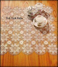 "Crochet: tablecloth or table runner ""Snow crystal"". Crochet Chart, Thread Crochet, Filet Crochet, Crochet Motif, Crochet Doilies, Crochet Lace, Crochet Hooks, Crochet Patterns, Crochet Table Runner Pattern"