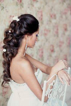 nice Шикарные свадебные прически на волосы разной длины (50 фото) — Модные укладки 2017 Check more at https://dnevniq.com/svadebnye-pricheski-foto/