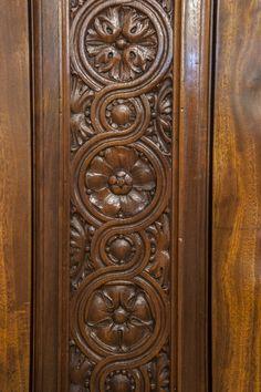 Antique and Vintage Bookcases - For Sale at Main Entrance Door Design, Wooden Main Door Design, Entrance Doors, Wood Cabinet Doors, Wooden Doors, Baroque Decor, Vintage Bookcase, Mahogany Cabinets, Pooja Room Door Design