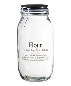 74-Oz. 'Flour' Storage Jar | zulily