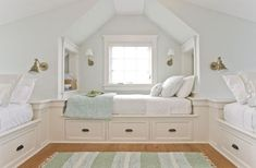 keen - The Boston Globe Beds are built in atop storage drawers in the third-floor bunk room.Beds are built in atop storage drawers in the third-floor bunk room. Bonus Room, House, Home, Attic Rooms, Bed, Loft Spaces, Built In Bed, Bunk Room, Kid Room Decor