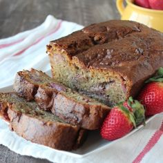 Gluten Free Strawberry Banana Bread | Strawberries add a really great sweetness to this banana bread recipe.
