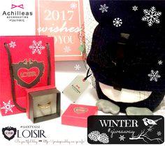 ↠❄️🏂💍Be.you.tiful - #WINTER ( Loisir & AchilleasAccessories ) #GIVEAWAY! 🏂💍❄️↞  Ο #διαγωνισμός ξεκινάει σήμερα 12/01/17 και θα λήξει στις 31/01/17. Καλή σας τύχη !!! 😉 LOISIR Achilleas Accessories #gift #δώρο #presents #bblog #beautyblogger #greekblοgger Giveaways, Winter, Blog, Hobbies, Winter Time, Blogging
