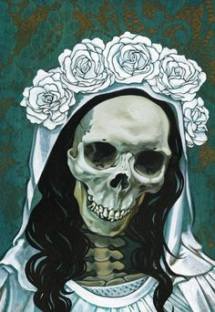 ☆ Santa Muerte in White :¦: Artist Briana Bainbridge ☆