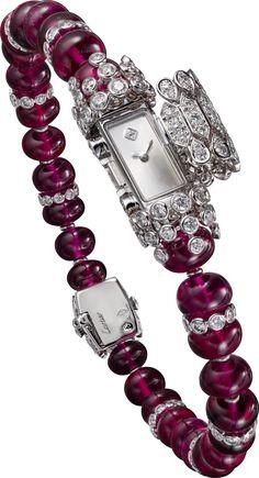 Cartier- High Jewelry watch-White Gold, Rubellites,Diamonds. HPIO1112
