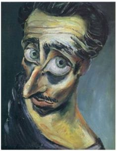 Albert Tucker 'Self Portrait', 1945. Very expressive and questioning angle....