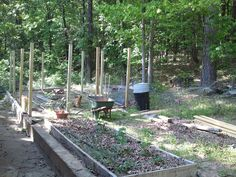 Deer fence for the veggies - in progress