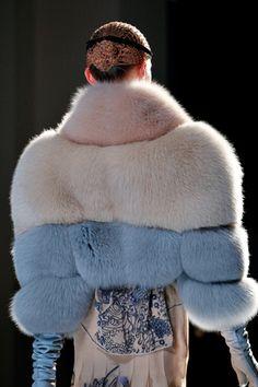 Cotton candy fur @ Jean Paul Gaultier sure looks comfy. #IDoBetseyBlue #Sponsored