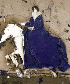 Dama a caballo con manto azul, 2008  Manolo Valdés
