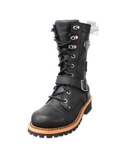 87066 - Harley-Davidson® Womens Albara Black Leather High Cut Boot  Alternate Part Numbers  Wolverine Footwear Shoes Harley Boots 96081  4421335078 Barnett ... aba487b2c0
