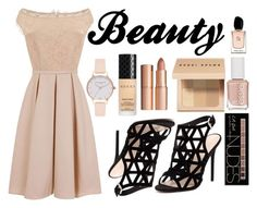 """Beauty"" by a-hidden-secret ❤ liked on Polyvore featuring Little Mistress, RMK, Charlotte Russe, Essie, Bobbi Brown Cosmetics, Charlotte Tilbury, Olivia Burton, Gucci and Armani Beauty"