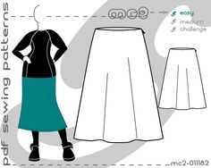 Classic A-line Skirt Sloper/Block Pattern - an IDEAL STARTER PATTERN for tailoring endless styles. Printable PDF Sewing Patterns – instant download in A0/A4/US-Letter format. This is a basic pattern that you can use as a TEMPLATE FOR TAILORING YOUR OWN STYLE sewing patterns! Shorten or