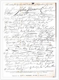 Declaration of Independence signatures by christine