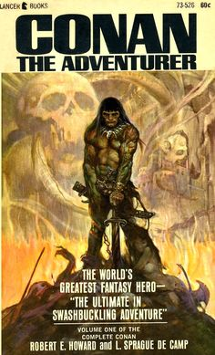 Conan The Adventurer by Robert E. Howard & L. Sprague De Camp / Book cover 1966 / 1965 (Frank Frazetta)