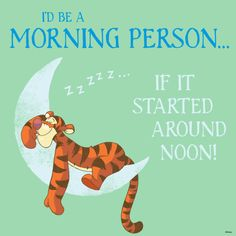 I'd be A Morning Person...If It Started Around Noon!