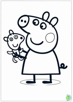 Pretty Peppa Pig Coloring Pages Printable And Book To Print For Free Find More Online Kids Adults Of