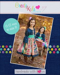 Jewel's Stripwork Dress PDF Pattern Now size to size 8 NEW ruffle option Pdf Sewing Patterns, Clothing Patterns, Crochet Patterns, Dress Patterns, Create Kids Couture, Fall Sewing, Girls Boutique, Boutique Clothing, Boutique Dresses