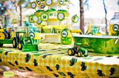 "Photo 1 of 22: John Deere Tractors / Birthday ""Carter & Copeland's John Deere Party"" 