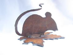 Garden Mouse Recycled Metal Garden Art by GeminiDragonfly on Etsy, $20.00