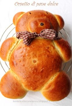Orsetto pane brioche - Paola, Le mie ricette con e senza Pane, Food Art, Dairy, Bread, Cheese, Baking, 3, Foods, Food Food